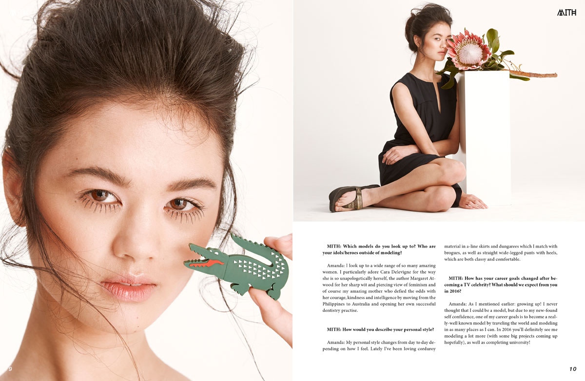 Amanda Chan Asia's Next Top Model Interview X Lacoste Editorial by Henry Lou