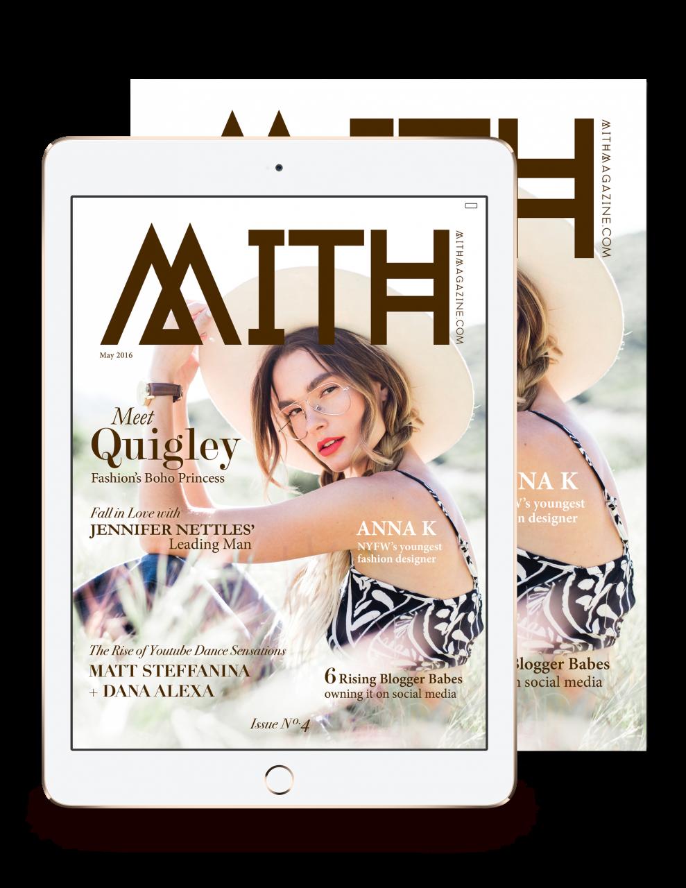 MITH Issue No.4 - Quigley, Matt Steffanina, Dana Alexa, Mariah Strongin, Jennifer Nettles