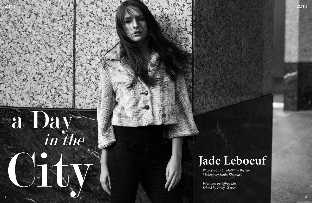 """Jade Leboeuf """"A Day in the City"""" Interview + Photoshoot by Mathilde Bresson"""