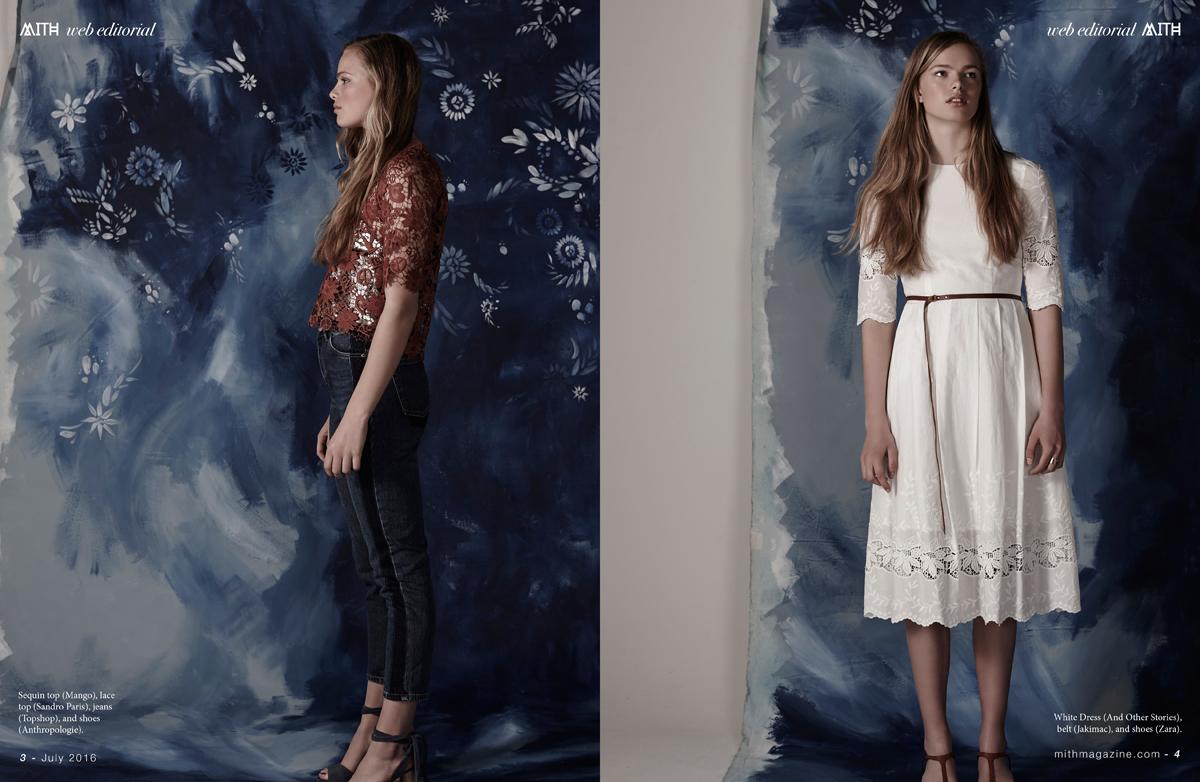 """Indigo Heat"" Boho Free Spirited Fashion Editorial :: Emily Moore by Simon Powell"