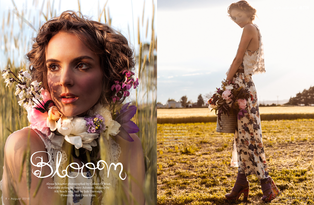 """Bloom"" Fashion Editorial :: Alyssa Schuetter by Colleen O'Brien"