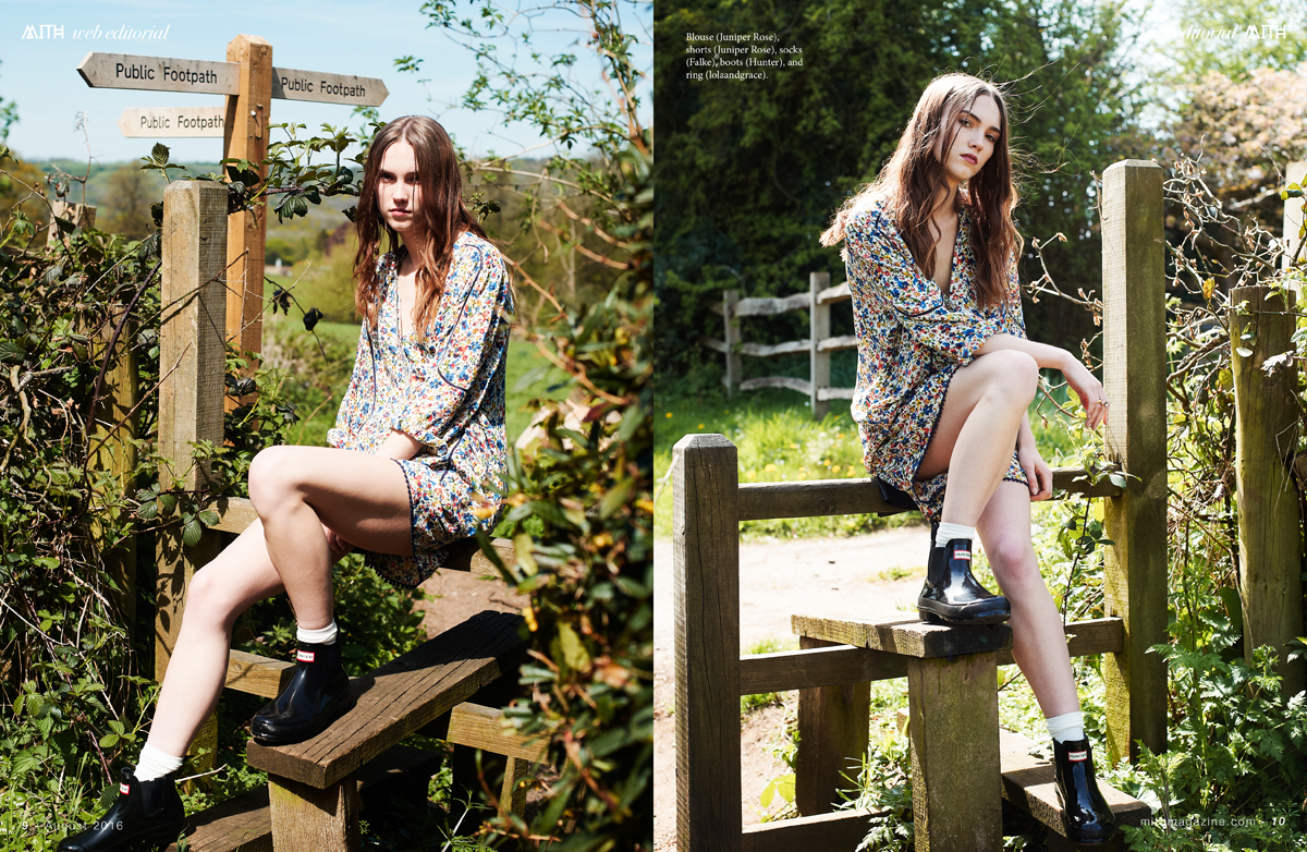 "MITH Magazine ""Folk Song"" Fashion Editorial - Megan Bull by Anne Laymond"